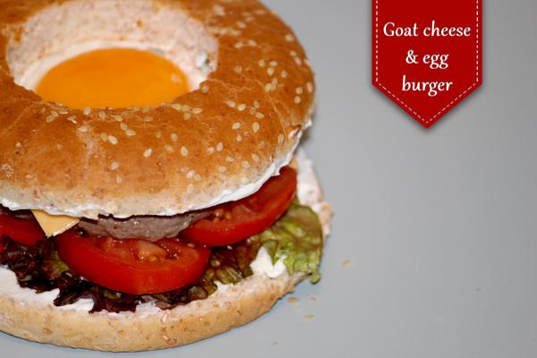 Hamburger chèvre et oeuf
