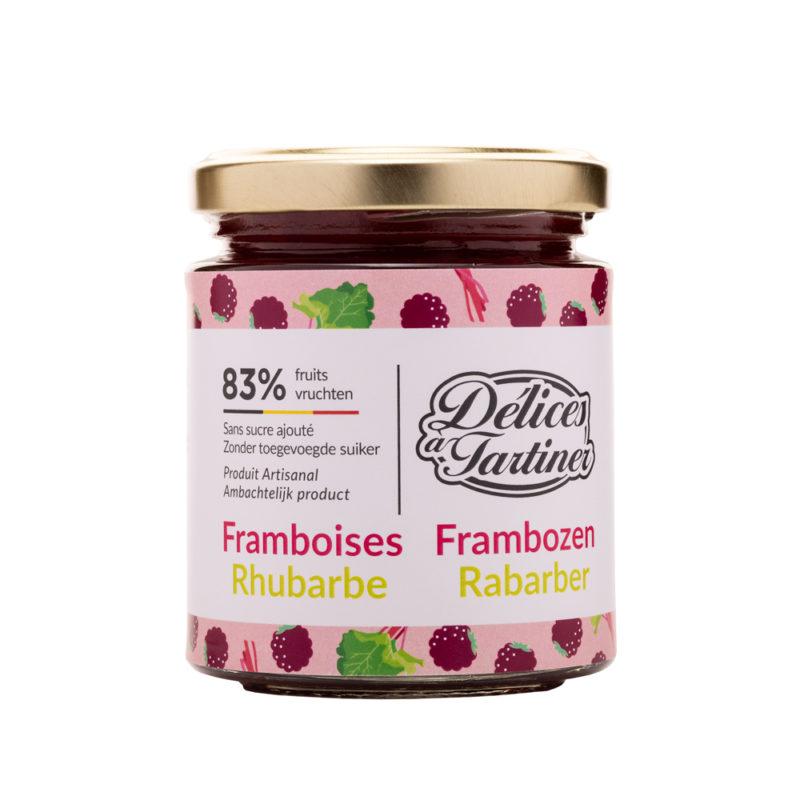 Confiture de Framboises Rhubarbe Délices à Tartiner
