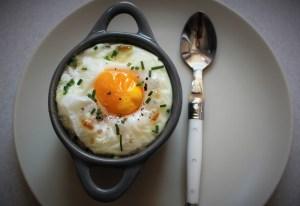 Délicimô ! - Recette Oeuf cocotte fondue de poireaux lardons - www.delicimo.fr