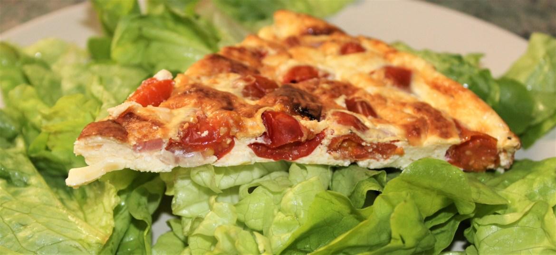 Quiche Sans Pâte : Tomates, Lardons, Chèvre Frais