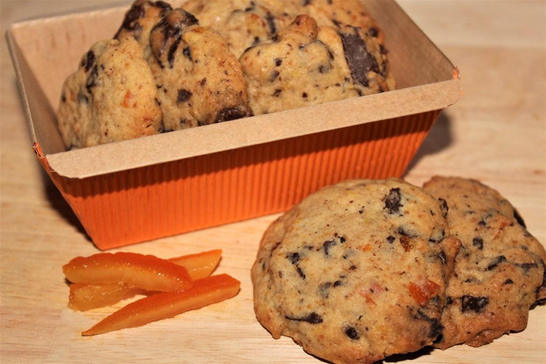 Cookies Chocolat et Oranges Confites