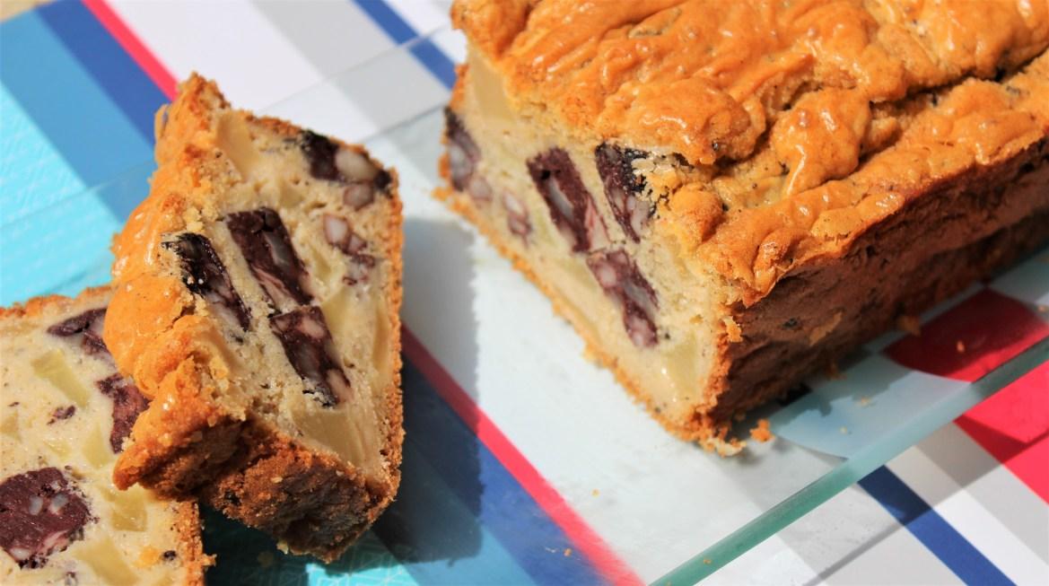 Cake au Boudin Noir et Pommes