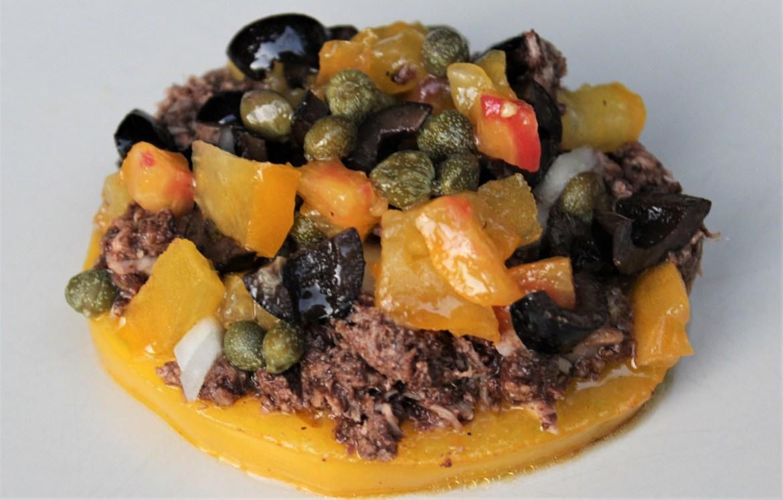 Tartine de Tomate au Thon et à la Tapenade