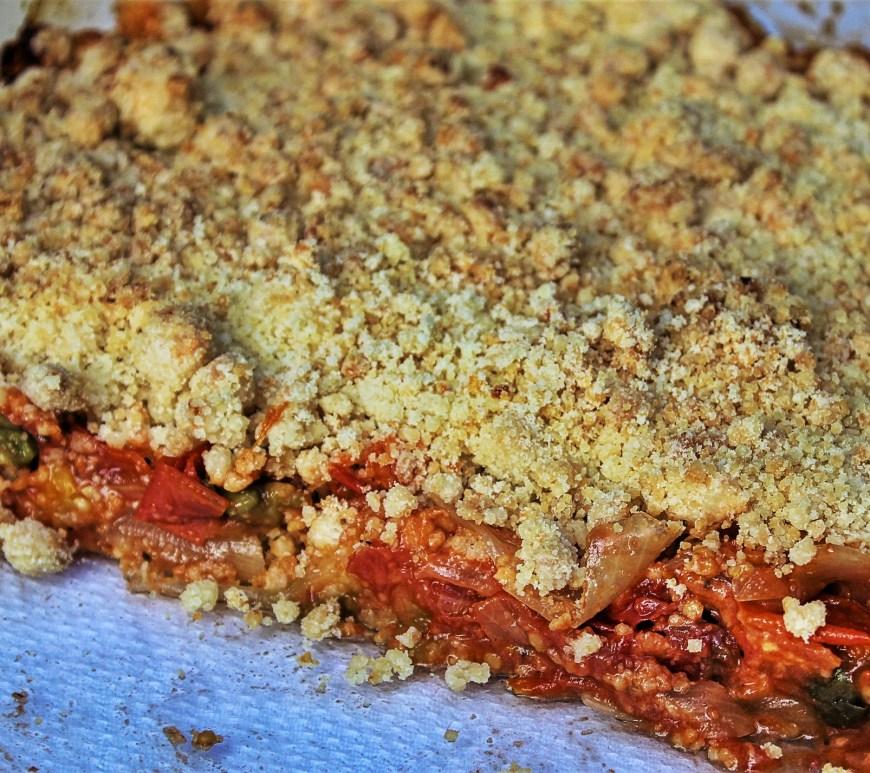 Délicimô ! - Recette Crumble de Tomates au Parmesan - www.delicimo.fr