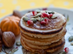 Pancakes cu mere si dovleac caramelizat