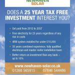 Newhaven Solar Flyer Front