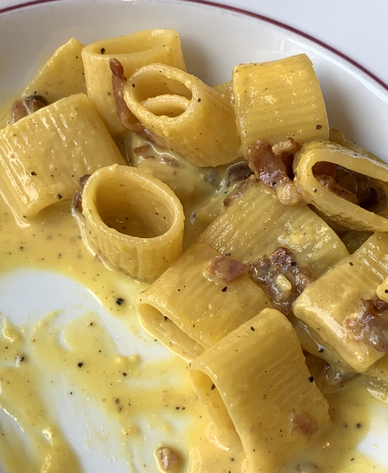 Pasta Carbonara with Corn and Chiles   Tasty Kitchen Blog  Delicious Pasta Carbonara