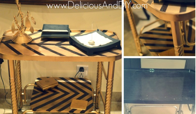 Herringbone Table Trolley Makeover