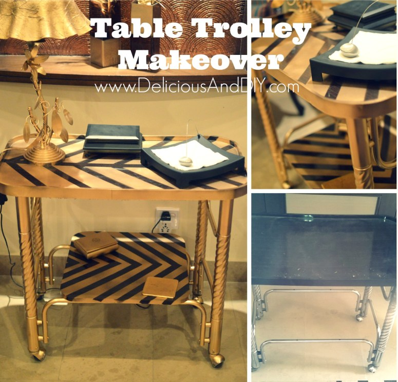 Table Trolley Makeover - Delicious And DIY