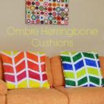 Ombre Herringbone Cushions