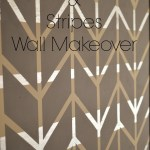 Herringbone & Stripes Wall Makeover