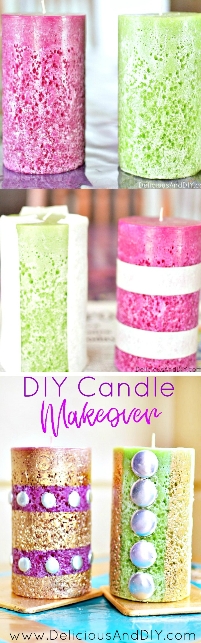 DIY Candle Makeover using Masking Tape and Gold Spray Paint| Candle Update| Candle Crafts| DIY Craft Ideas| Craft Ideas in under 15 minutes