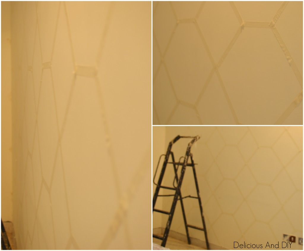 Pastel Painted Hexagon Feature Wall - Delicious And DIY