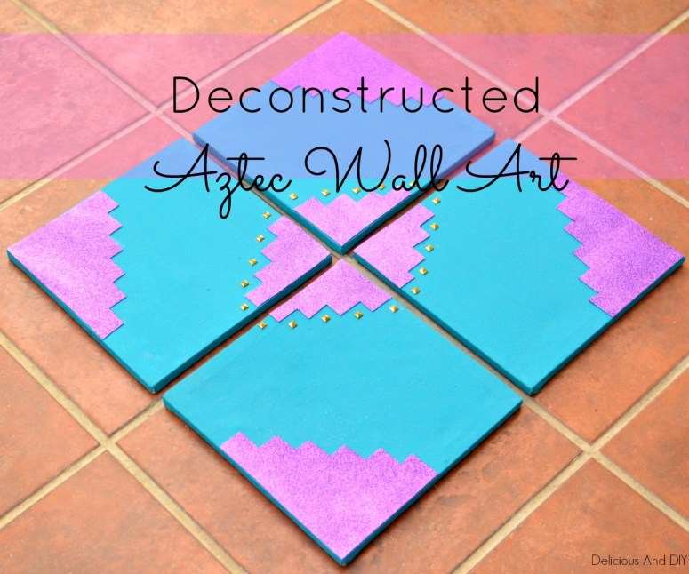Deconstructed Aztec Wall Art