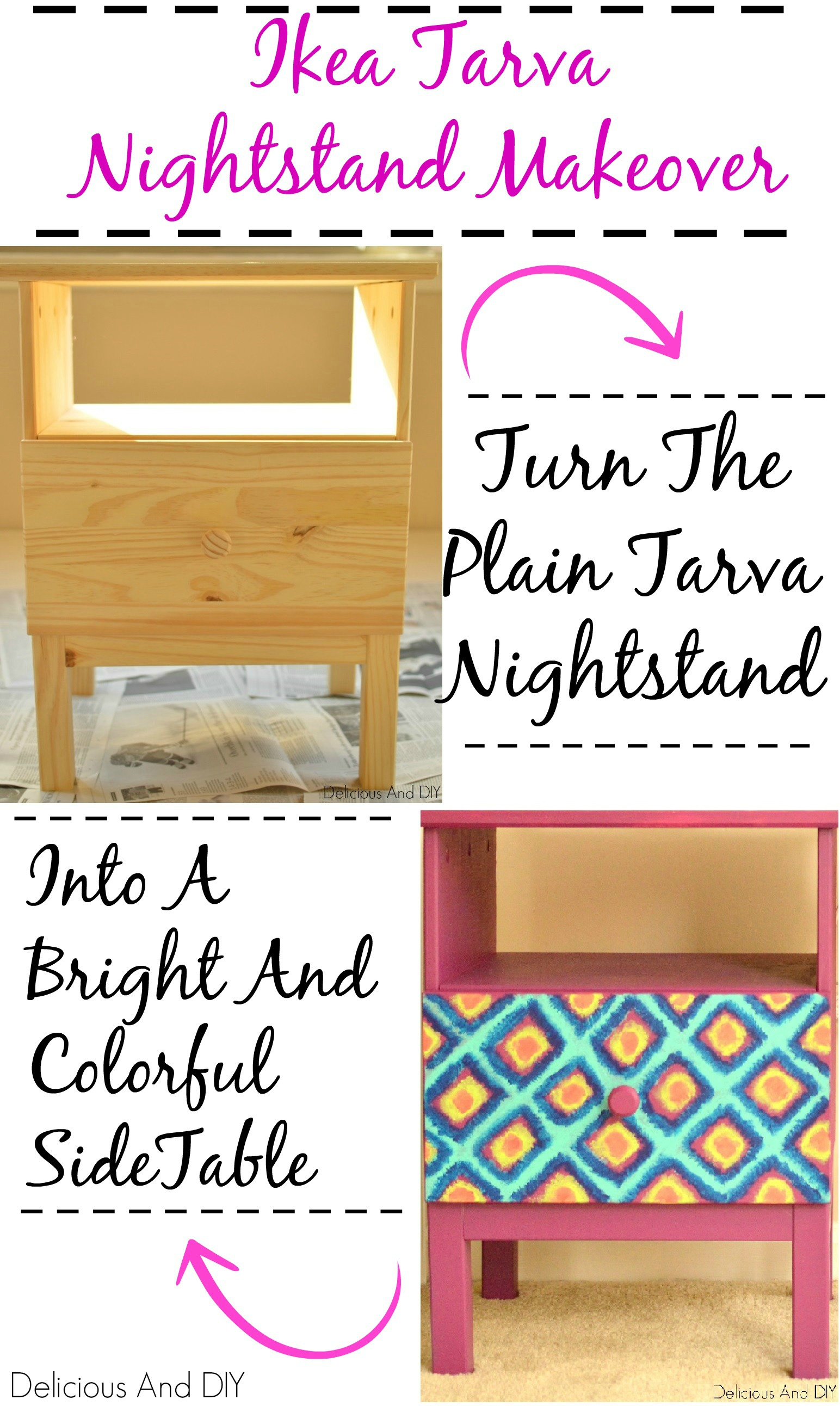IKEA Tarva Nightstand Makeover Delicious And DIY