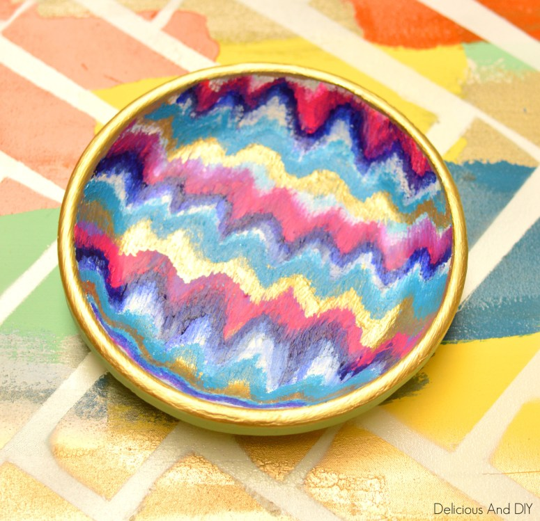 IIkat Chevron Bowl Makeover
