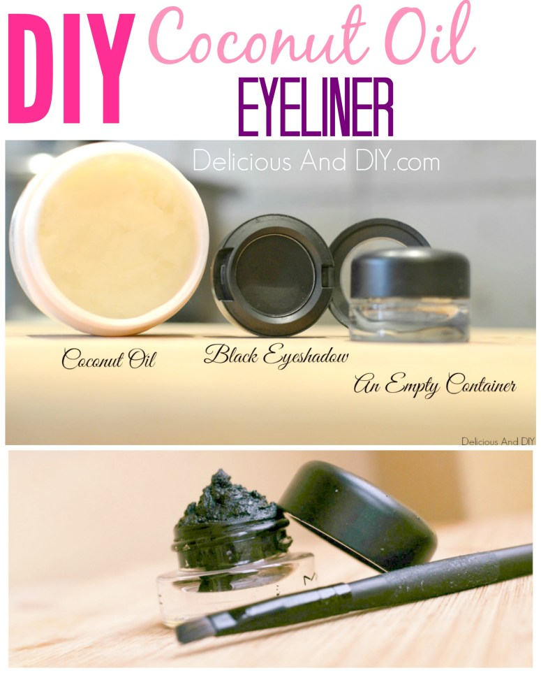 Coconut Oil with Eyeliner - Delicious And DIY
