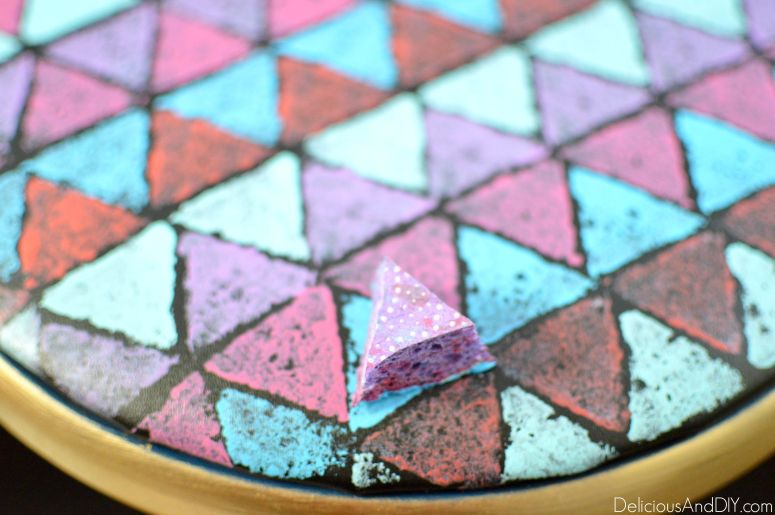 Mod Triangle Stool Makeover - Delicious And DIY