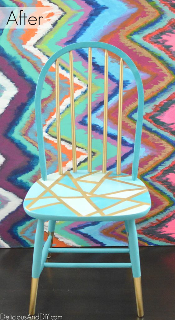 Wooden Chair Makeover - Delicious And DIY