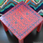 Stenciled Corner Table Makeover