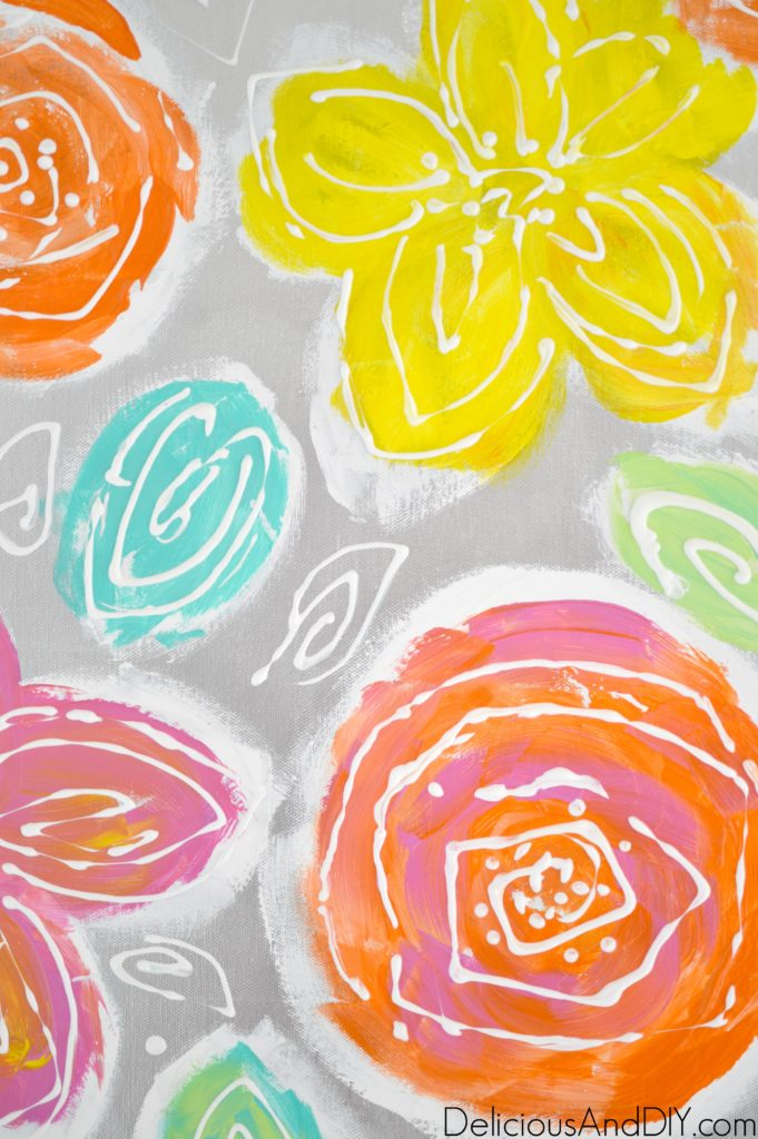 Flower Wall Art - Delicious And DIY