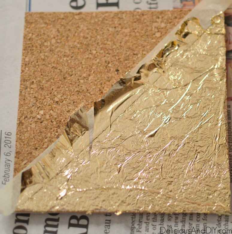 Gold Leaf Coasters - Delicious And DIY