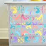 Multicolored Ikat Nightstand