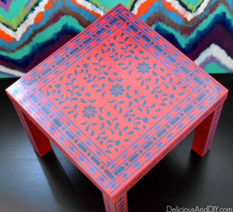 Top 10 Stencil Furniture Makeovers- Delicious And DIY