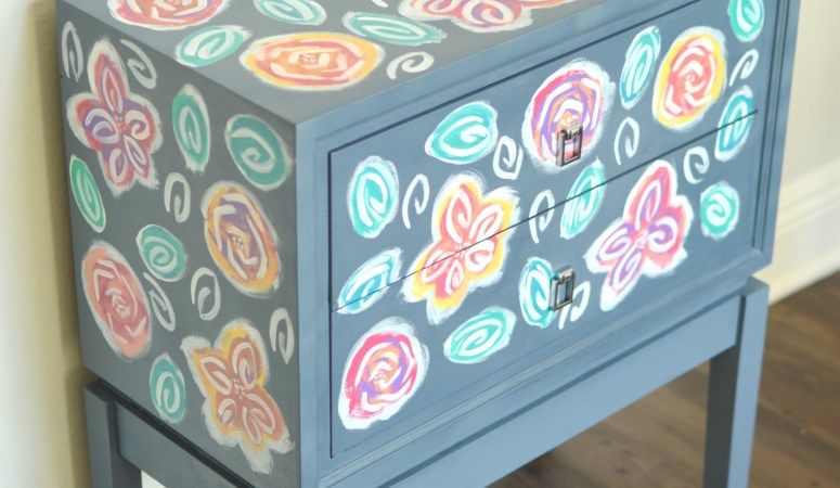 Flower Art Nightstand