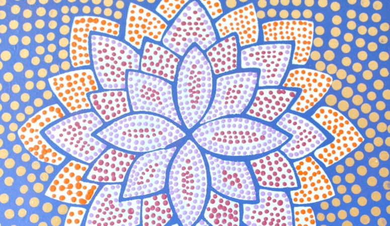 Dotted Flower Art