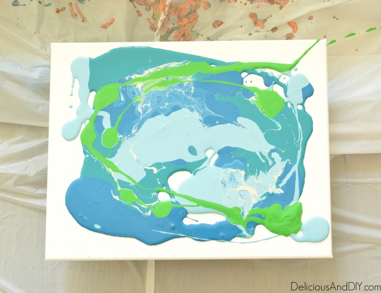 Marbleized Wall Art- Delicious And DIY