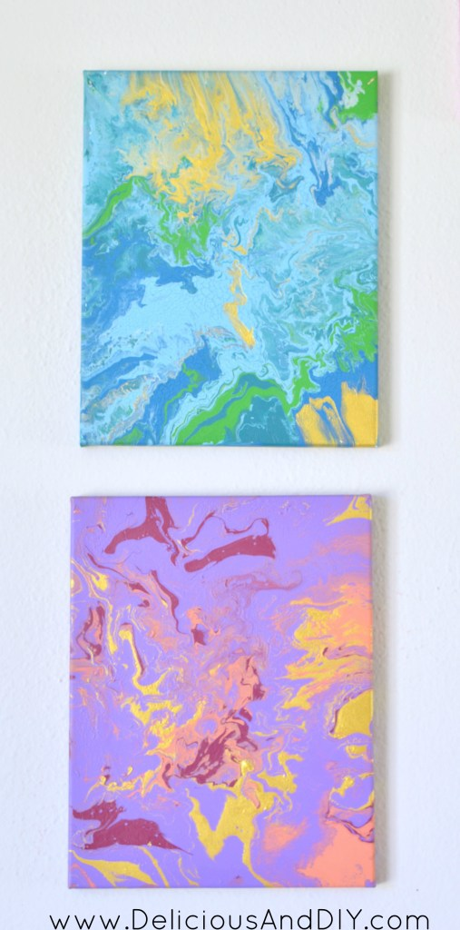 Purple Marbled Art - Delicious And DIY