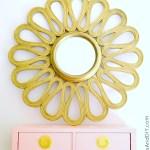 Gold Flower Mirror