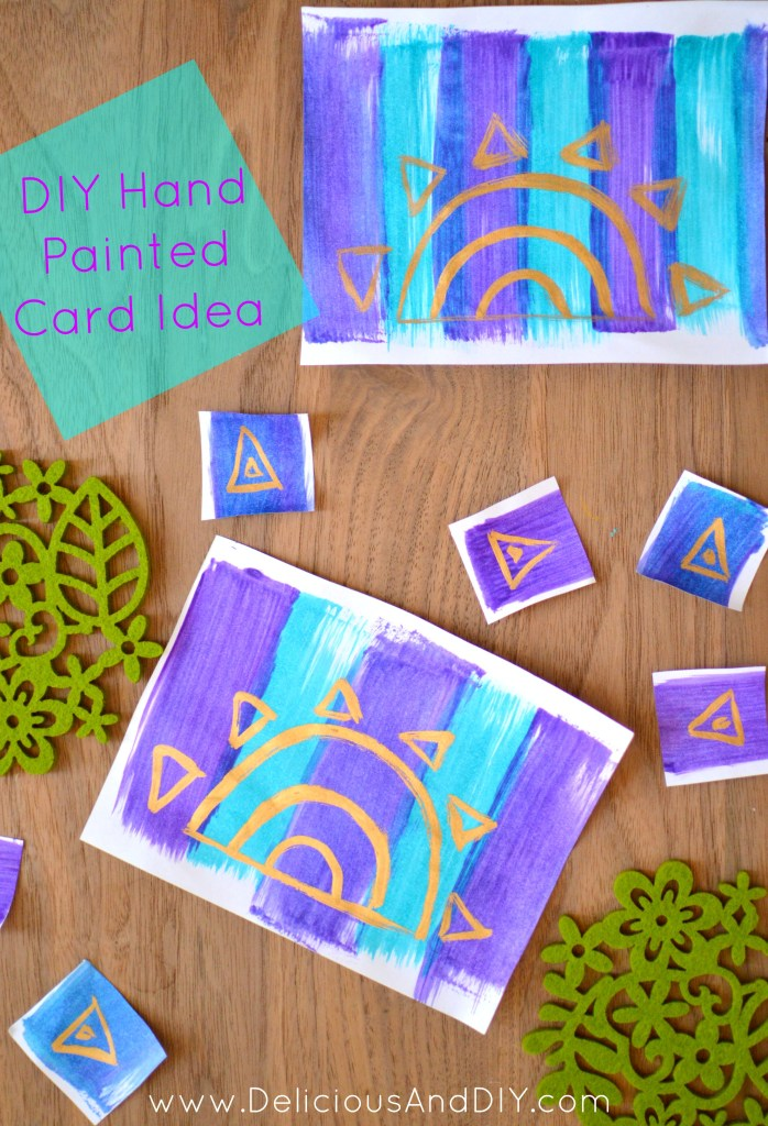DIY Hand Painted Card Idea- Delicious And DIY