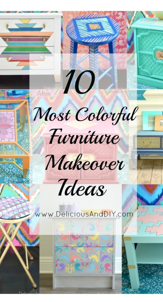 10 Most Colorful Furniture Makeover Ideas- Delicious And DIY