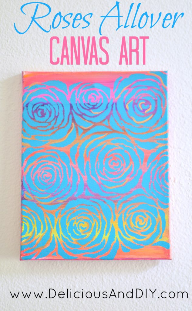 Roses Allover Canvas Art Delicious And Diy