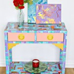 Abstract Console Table Makeover
