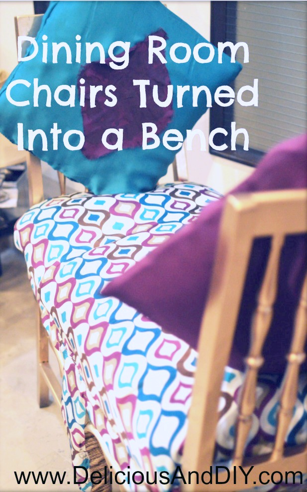 Chairs turned Into A Bench| Dining Room Chairs Into Bench| Bench Ideas| Bench Made with Chairs|Chair Makeover|Recycle Old Chairs Into A Bench