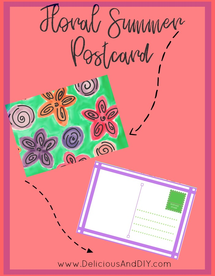 Free Printables| Floral Postcard| Postcard Ideas| Freebies| Hand Made Post Card| Hand Made Card Ideas| Watercolor Cards