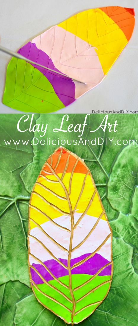 Leaf Decor| Home Decor| DIY Clay Crafts| Oven Bake Clay|Polymer Clay| Leaf|Multicolored Leaf|Clay Projects