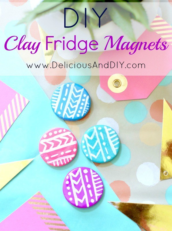 Mini Circle shaped Fridge Magnets with an Aztec Pattern