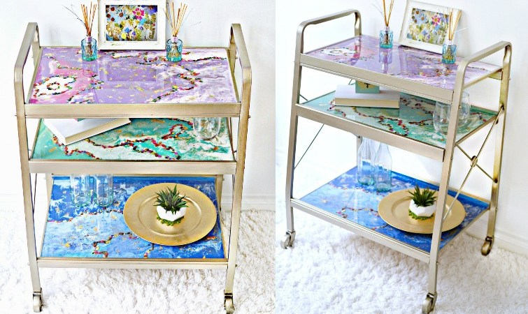 DIY Bar Cart Makeover