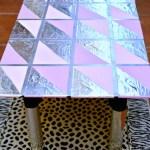 DIY Faux Silver Leaf Table