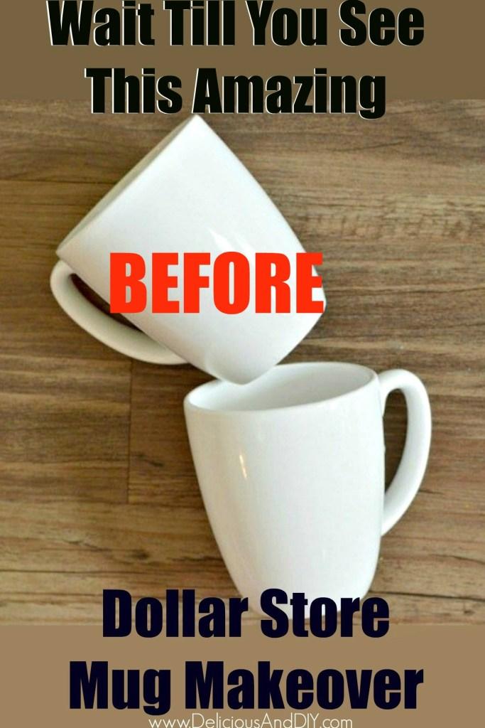 dollar store mugs
