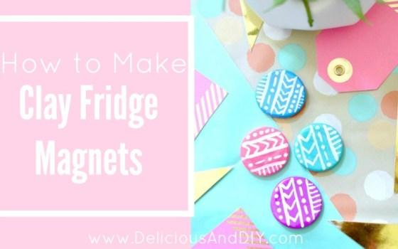 DIY Clay Fridge Magnets {Aztec Inspired Pattern}
