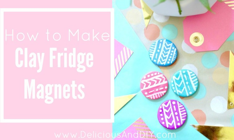 DIY Clay Fridge Magnets {Aztec Inspired Pattern}
