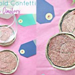 Rose Gold Confetti Resin Coaster