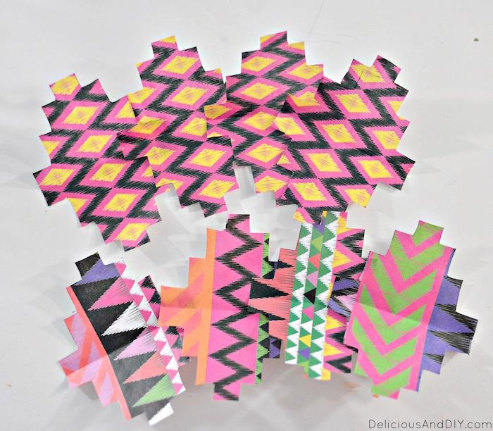 assembling cut decoupage papers