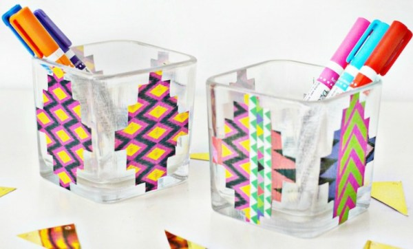 Create these beautiful Aztec Inspired Decoupage Vase just by using Dollar Store vases and beautiful decoupage paper Decoupaged Vase  Decoupage Bowl Idea  Vase Ideas  DIY Crafts  Quick and Easy DIY Crafts  Centerpiece Ideas  Decoupage Ideas  Aztec Inspired Bowls  Aztec Pattern  Vase Makeover Ideas