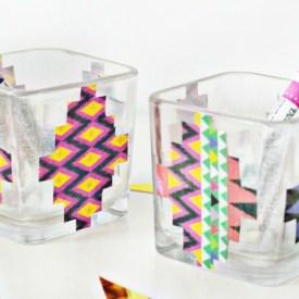 Aztec Inspired Decoupage Vase